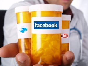 Doctor, patient, firma farmaceutyczna a social media